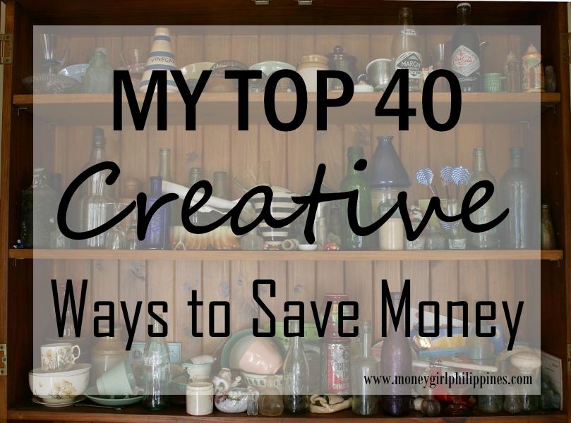 40 creative ways to save money money girl ph. Black Bedroom Furniture Sets. Home Design Ideas